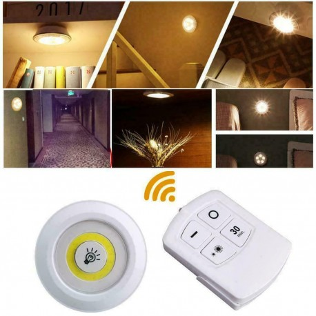 LED šviestuvas su baterijomis ir nuotoliniu valdymu