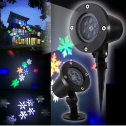 """LED lauko prožektorius """"RGB Snaigės"""""""