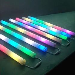 LED RGB šviečiantis vamzdis, 6 vnt.