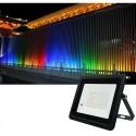 LED RGB lauko prožektorius su valdymo pulteliu