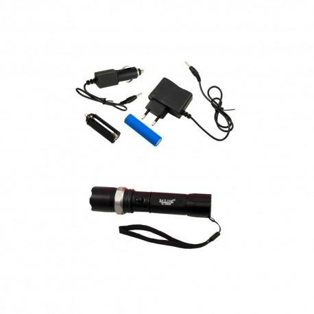 LED įkraunamas  žibintuvėlis fokusuojamas su akumuliatoriumi