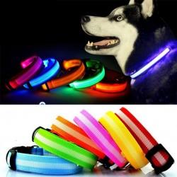 LED spalvas keičiantis, juodas šuns antkaklis