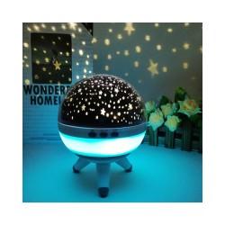 LED naktinė lemputė - projektorius su apšvetimu