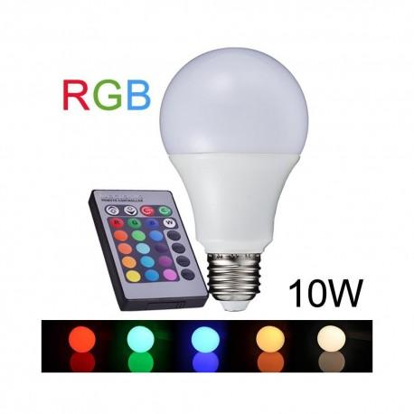 LED daugiaspalvė lemputė su nuotoliniu valdymu