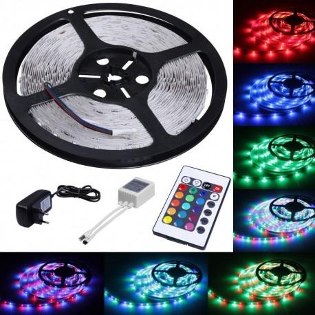 RGB LED juostos komplektas (5m.+valdiklis+maitinimo šaltinis)