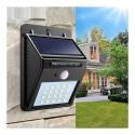 LED lauko šviestuvas su saulės baterija ir judesio davikliu