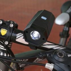 LED dviračio priekinis žibintas su signalu
