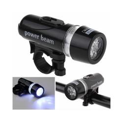 LED priekinis dviračio žibintas su baterijomis