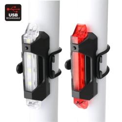 LED galinis dviračio žibintas, įkraunamas