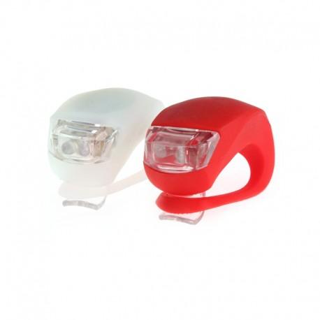 LED dviračio žibintai (Raudonas ir baltas)