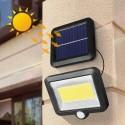 LED lauko prožektorius su judesio davikliu ir saulės baterija