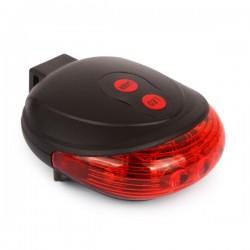 LED galinis dviračio žibintas su lazeriu (Raudonas)