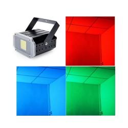 LED daugiaspalvis stroboskopas - blykstė (20W)