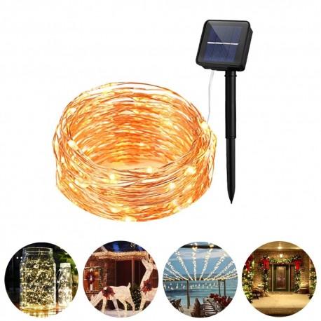 LED lempučių girlianda su saulės baterija