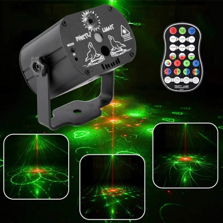 Mini lazerinis projektorius su akumuliatoriumi
