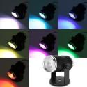 LED RGB prožektorius reaguojantis į garsą
