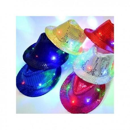 """LED šviečianti skrybėlė """"Disko"""""""