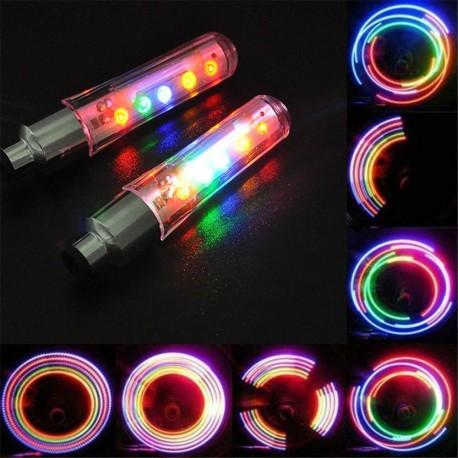 LED daugiaspalviai dviračio ventiliai