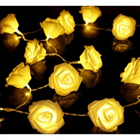 """LED šviečianti dekoracija """"Rožės"""", 10 vnt., šiltai baltos"""