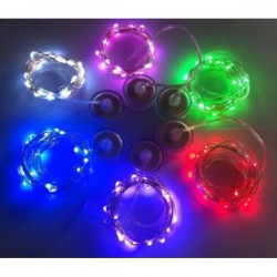 LED lempučių girlianda su baterijomis (15 vnt.)