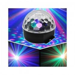 """LED šviesos efektas """"Kristalinis rutulys"""" daugiaspalvis, 10 W"""