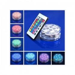 LED šviestuvas su baterijomis ir pulteliu (IP68)