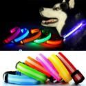 LED raudonai  šviečiantis šuns antkaklis