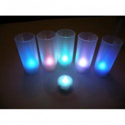 LED RGB daugiaspalvė žvakė su gaubtu