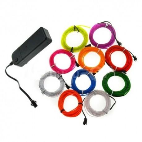 LED šviečiantis elektrinis laidas (Neoninis, mėlynas)