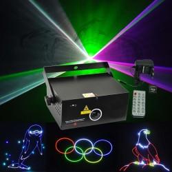 Lazerinis animacinis projektorius su SD kortele (RGB, 350mW)