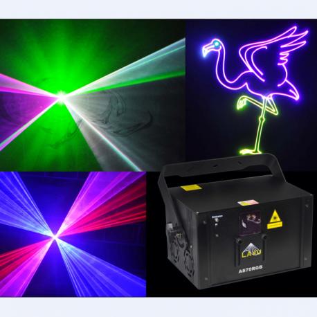 RGB, 1000mW Lazerinis animacinis projektorius su SD kortele