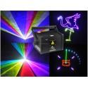 RGB, 3W Lazerinis animacinis projektorius (SD, ILDA, DMX)