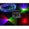 RGB, 6W Lazerinis animacinis projektorius (SD, ILDA, DMX)