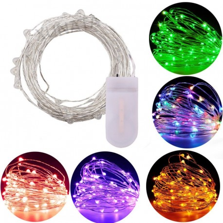 LED lempučių girlianda su baterijomis (20 vnt.)