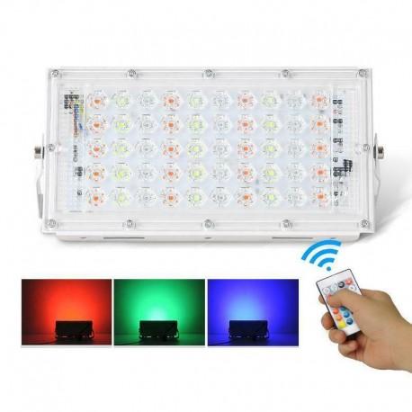 LED RGB lauko prožektorius su valdymo pulteliu (50W)