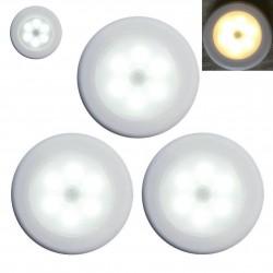 LED šviestuvas su judesio davikliu ir baterijomis