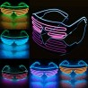 """LED šviečiantys akiniai """"Grotelės"""" (Su neoniniu laidu)"""
