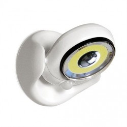 LED lauko prožektorius su judesio davikliu ir baterijomis