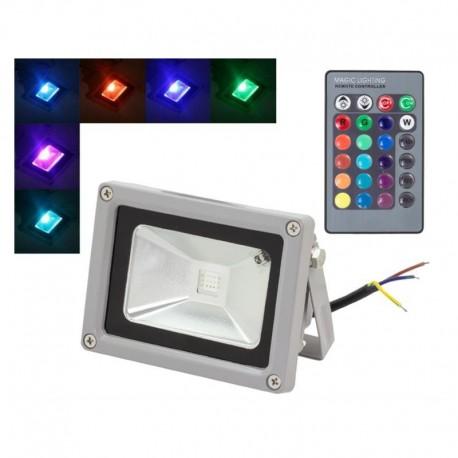 LED RGB lauko prožektorius su valdymo pulteliu (10W)