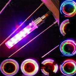 LED daugiaspalviai dviračio ventiliai (2vnt.)