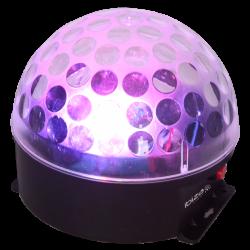 """LED šviesos efektas """"Kristalinis rutulys"""" su akumuliatoriumi"""