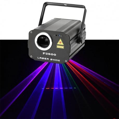 RGB Lazerinis animacinis projektorius, 510mW