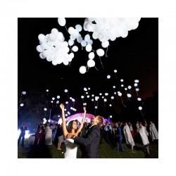 LED šviečiantys balionai (Balti, 5 vnt.)