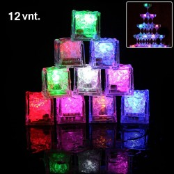 LED šviečiantys ledo kubeliai (12 vnt.)