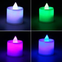 Daugiaspalvė LED žvakė (RGB)