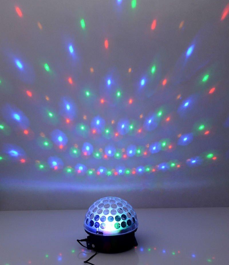 LED sviesos efektas kristalinis rutulys ikraunamas belaidis