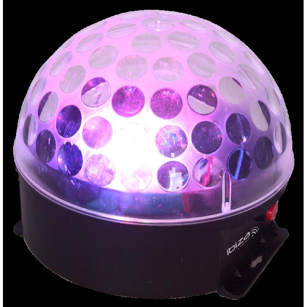 LED įkraunamas šviesos efektas Kristalinis rutulys