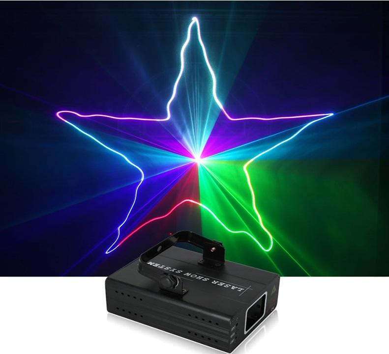 lazerinis RGB projektorius efektas